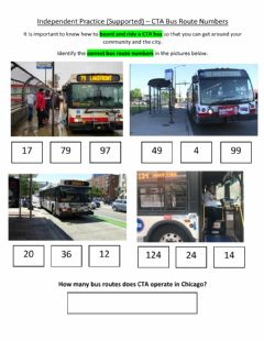 Ficha interactiva Independent Practice (Supported) - CTA Bus Route Numbers