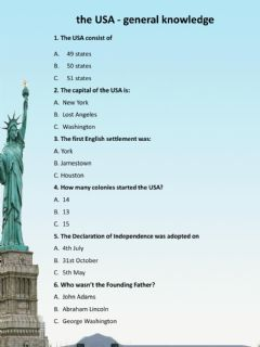 Interactive worksheet The USA - Culture