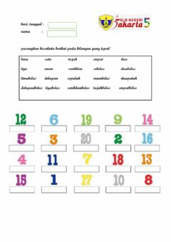 Interactive worksheet Membaca bilangan