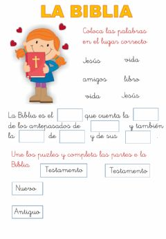 Interactive worksheet Biblia 1º primaria