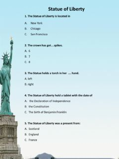 Interactive worksheet Statue of Liberty