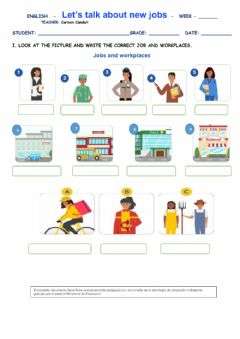 Interactive worksheet Let's talk about new jobs
