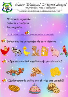 Interactive worksheet La gallina roja