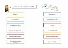 Interactive worksheet Refranes