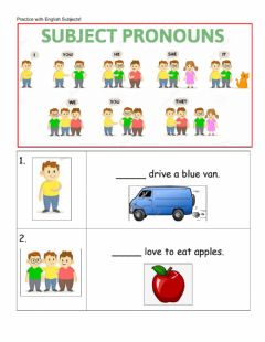 Interactive worksheet Practice English Subjects