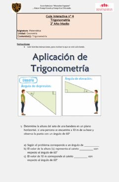Interactive worksheet Aplicación de trigonometría