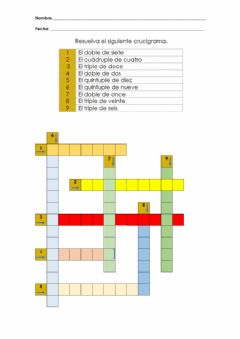 Interactive worksheet Doble, triplie, cuadruple y quintuple
