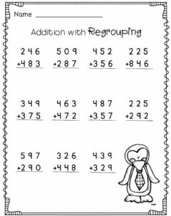 Ficha interactiva Addition with regrouping