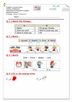 Ficha interactiva We can 5th grade exam