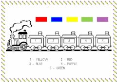 Interactive worksheet Little train