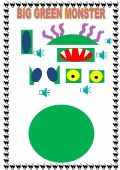 Interactive worksheet Big green monster