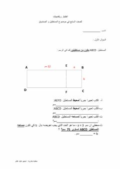 Interactive worksheet اختبار صندوق