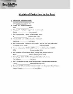 Ficha interactiva Modal verbs of deduction in the past