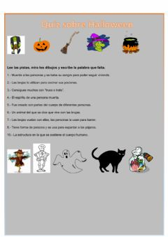 Ficha interactiva Quiz Halloween