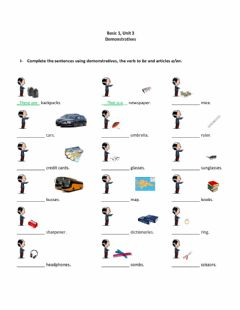 Interactive worksheet Basic 1 Unit 3 Demonstratives