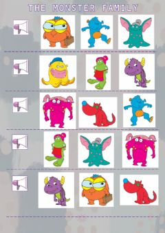 Interactive worksheet The monster family - Listen and choose