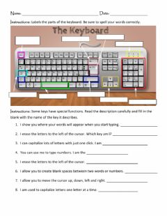 Interactive worksheet The Keyboard
