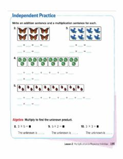 Interactive worksheet Multiplication as repeated Addition
