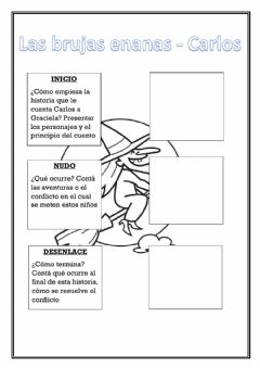 Interactive worksheet Las brujas enanas