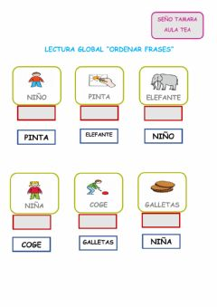 Interactive worksheet Lectura global