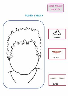 Interactive worksheet Poner carita