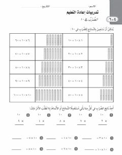 Interactive worksheet الضرب في ١٠