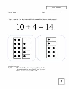 Ficha interactiva December Math Assessment k-2 Level 2