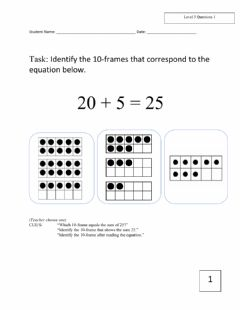 Ficha interactiva December Math Assessment k-2 level 3