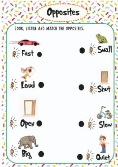 Interactive worksheet Opposites