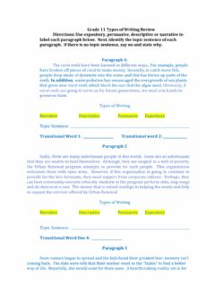 Ficha interactiva Grade 11 Types of Writing Review