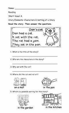 Interactive worksheet Setting  & Characters