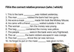 Interactive worksheet Fill in the correct relative pronoun (who - which)