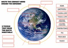 Interactive worksheet Earth facts