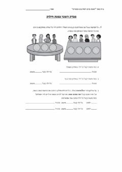 Interactive worksheet מבדק השבר כמנת חילוק