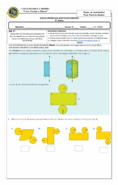 Interactive worksheet Clase 66 8° Identificar cilindros.