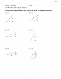 Interactive worksheet Trig worksheet