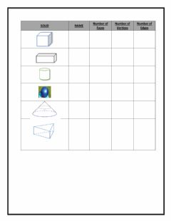 Interactive worksheet 3D Shapes Activity