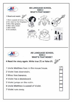 Ficha interactiva What's That Noise (Activities 3, 4 and 5)