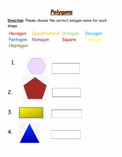 Interactive worksheet Matching Polygons