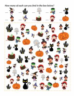 Ficha interactiva I spy... Halloween edition!