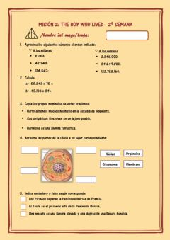 Interactive worksheet Ficha Harry Potter 2