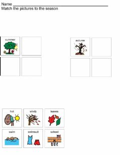 Interactive worksheet Summer Autumn Sort