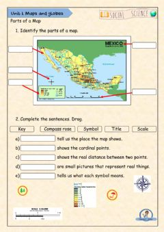 Interactive worksheet Parts of a Map