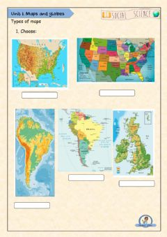 Interactive worksheet Types of Maps