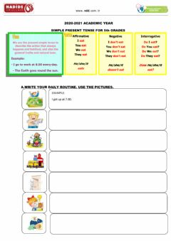 Interactive worksheet 5th Grades Simple Present Tense-1