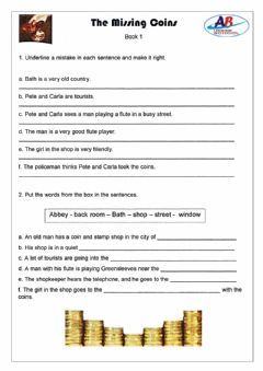 Interactive worksheet The Missing Coins 3