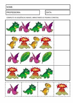Interactive worksheet Sequência de dinos