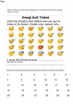 Interactive worksheet Ticket out