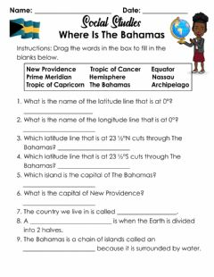 Interactive worksheet Where Is The Bahamas