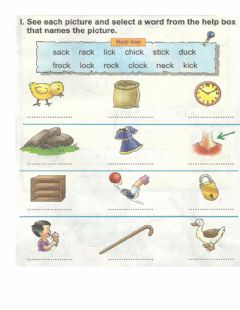 Interactive worksheet Name the Pictures